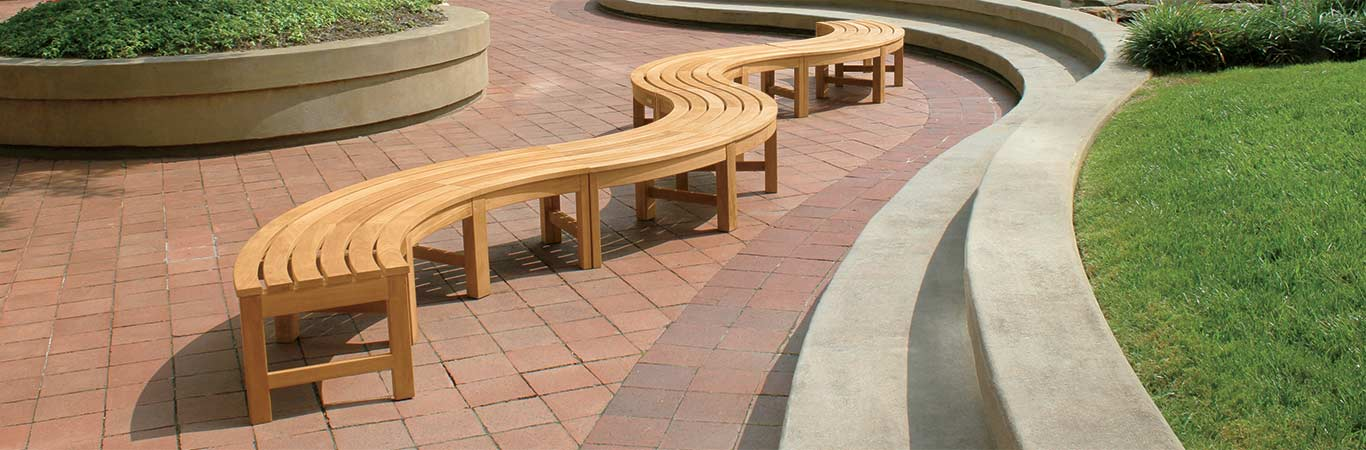 Curved Teak Benches - Country Casual Teak
