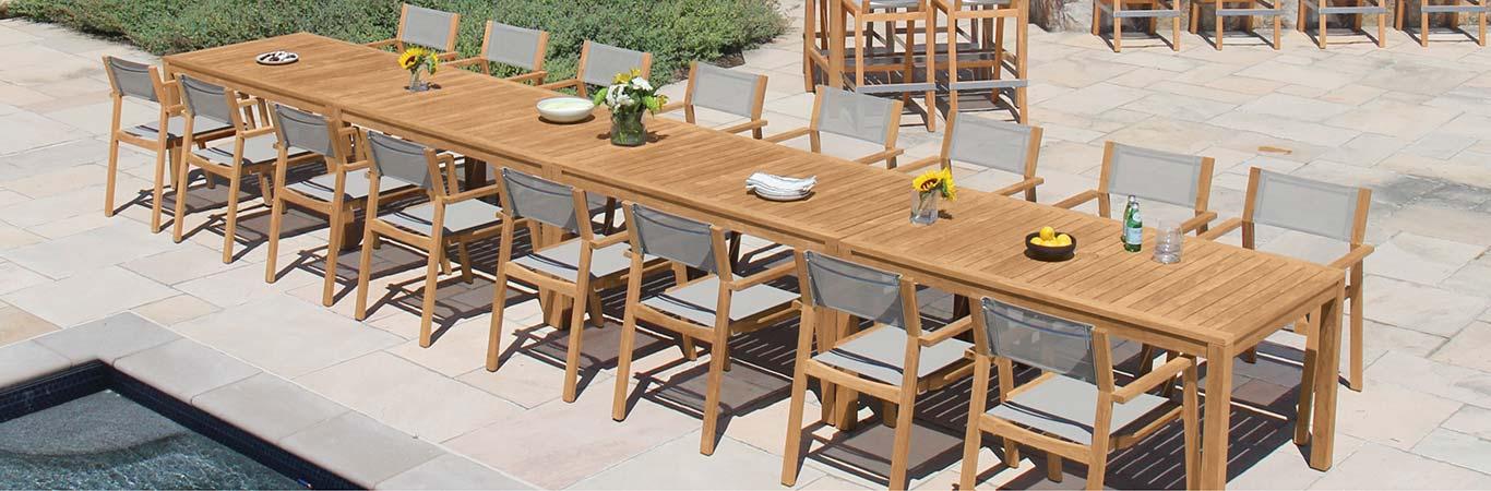 Teak Stacking Dining Chairs