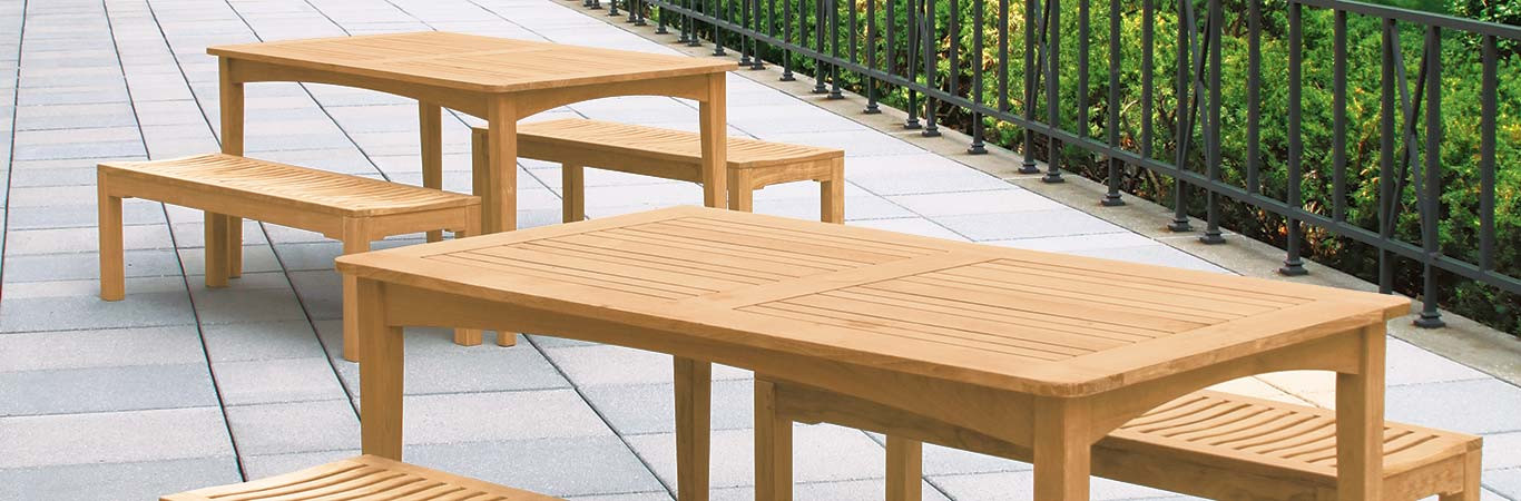 Teak Picnic Tables Country Casual Teak - Teak picnic table with benches