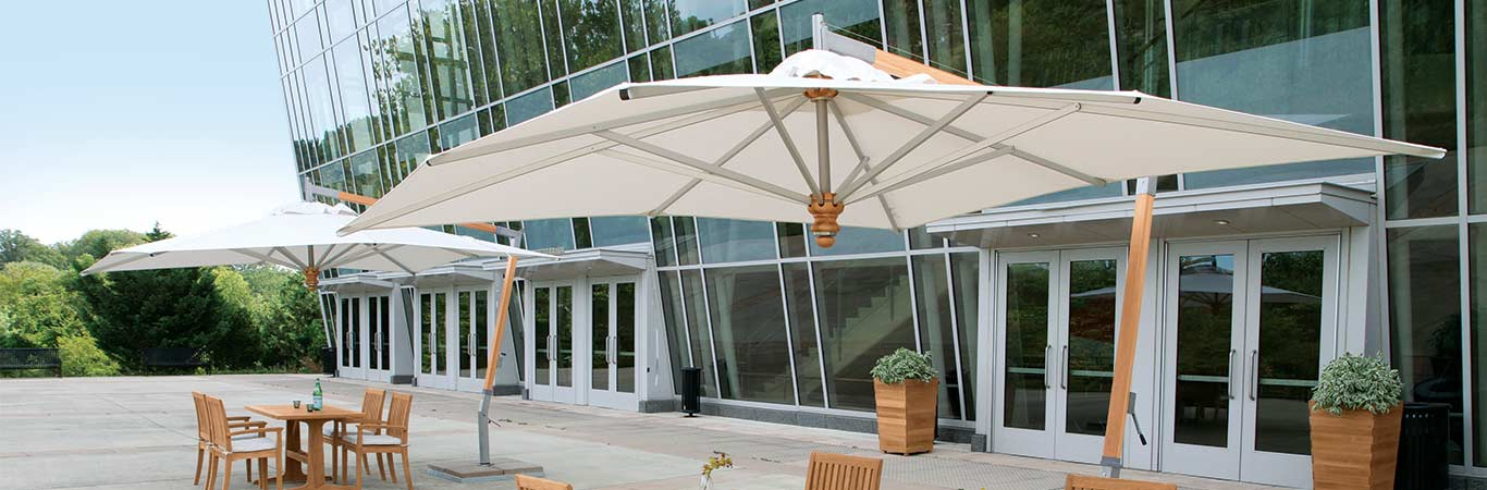 Cantilevered Umbrellas