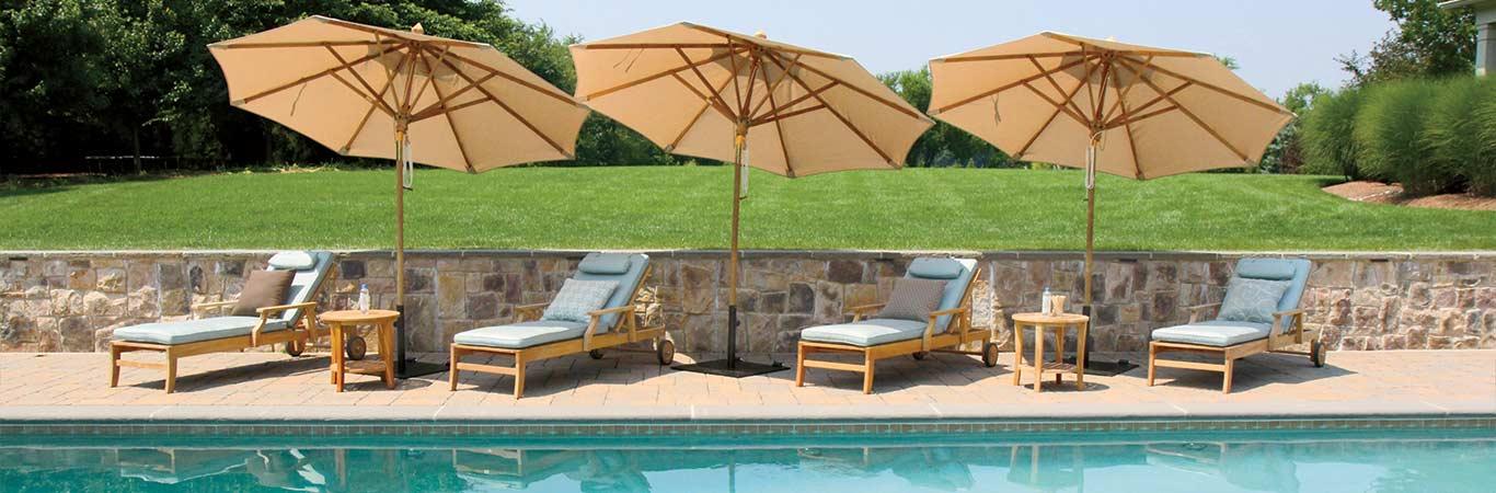 Tilting Patio Umbrellas - Country Casual Teak
