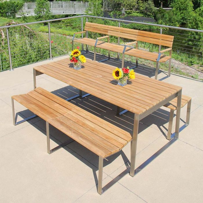 Modern Teak Outdoor Dining Table Bond
