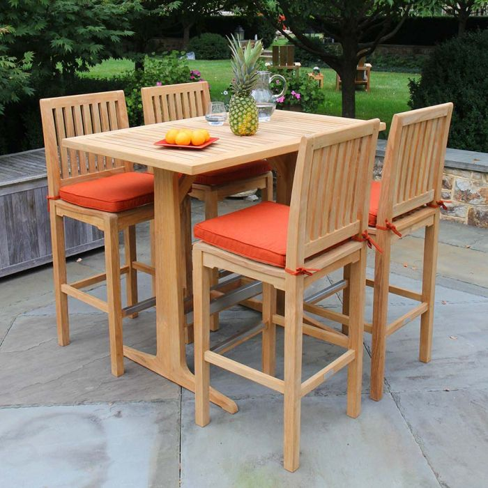 Teak Dining Tables Foxhall, Outdoor Bar Top Dining Table