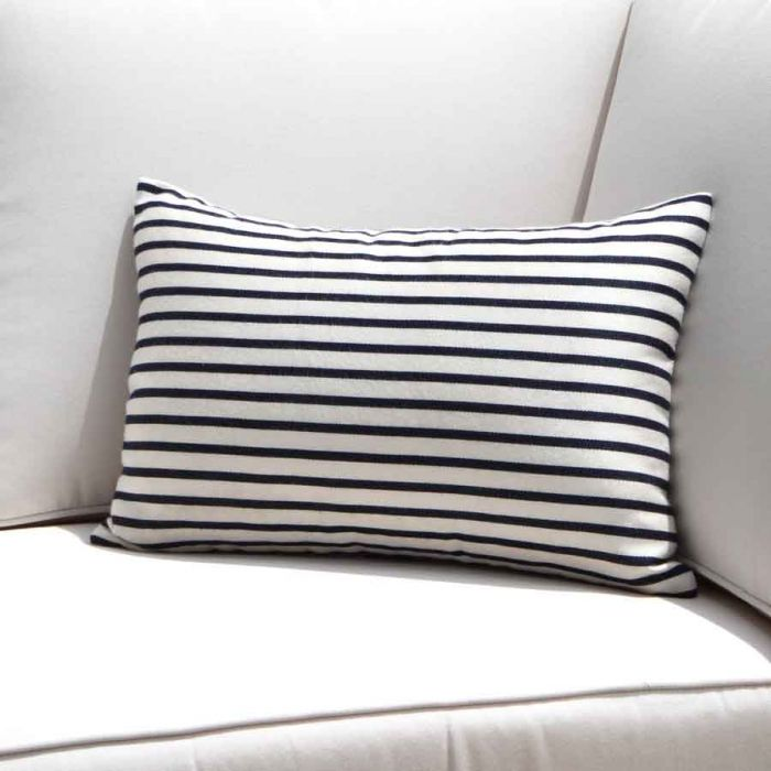 Blue And White Striped Outdoor Pillows