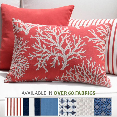 Outdoor Pillows 14 X 20 In Lumbar