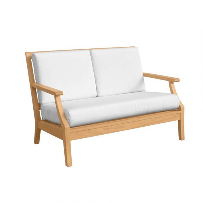 Teak Wood Patio Loveseat Seneca Loveseat Country Casual Teak