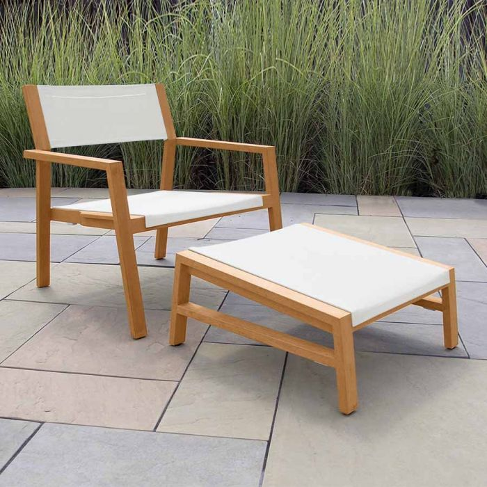 Summit Stacking Lounge Chair In Cloud
