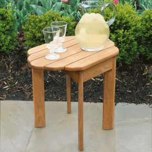 teak Adirondack side table
