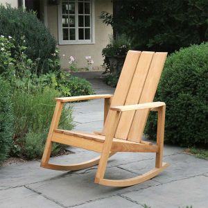 Aspen adirondack teak wood rocking chair