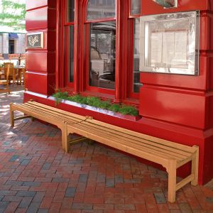 Windermere 6 foot backless benches placed end-to-end.