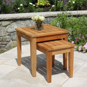 Berwick teak nesting tables