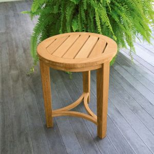 Berwick round small teak side table