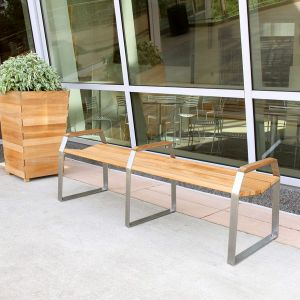Bond 6 ft backless bench with arms.