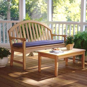 Brittany wooden porch bench