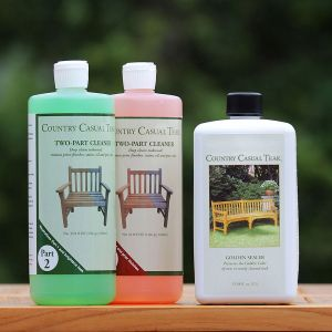 Deep Clean & Seal Kit for restoring teak wood