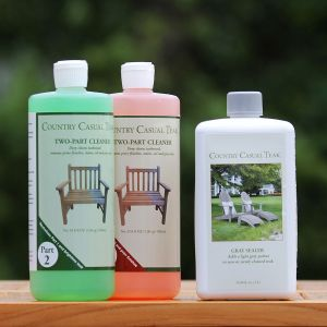 Clean & Gray Seal Kit for Aged Teak - 1 liter