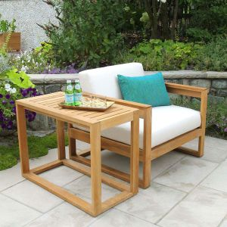 teak tall outdoor side table