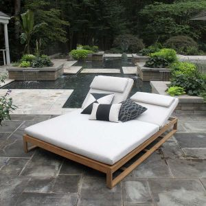 Casita outdoor double chaise lounge.