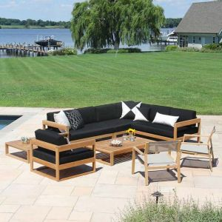 Casita right-L sectional teak outdoor furniture set