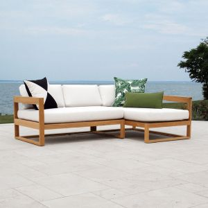 Casita outdoor teak sectional right-chaise set