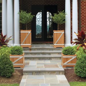 Chateau 36 in. tall and 22 in. square planters.