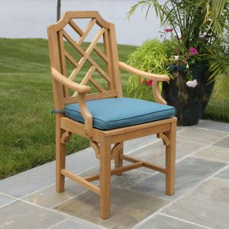 Chippendale armchair with Mediterranean cushion.