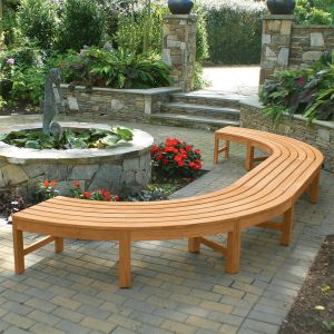 Circa 3 piece U-shaped backless curved bench.