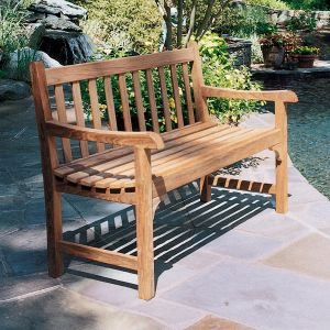 Clifton 4 ft. teak outdoor bench