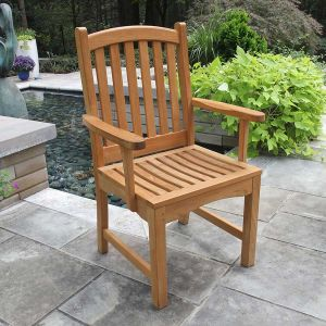 Elgin solid teakdining chair with arms