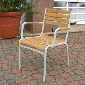 outdoor cafe chairs - Ethos stacking armchair - commercial cafe chairs