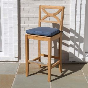 Outdoor teak bar stools - Fiori bar sidechair