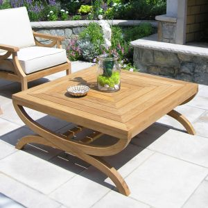 Fiori square natural teak coffee table