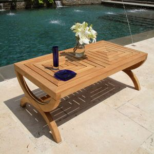 Fiori outdoor teak coffee table