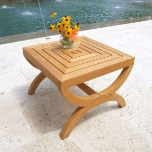 Fiori teak outdoor side table