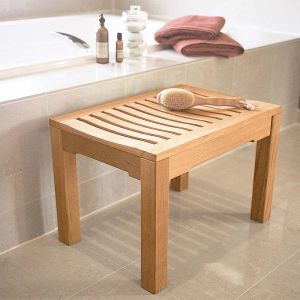 Foxhall 2 ft. 1 in. backless teak shower bench