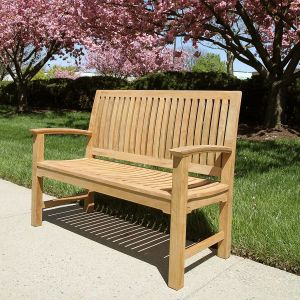 Commercial outdoor benches - Foxhall 4 ft. bench