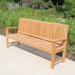 Foxhall 6 ft. teak commercial park bench
