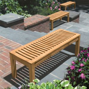 Foxhall 4 ft teak backless patio bench