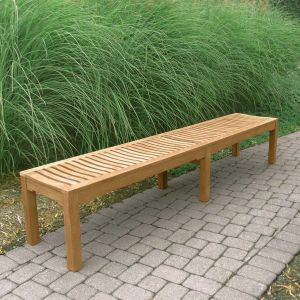 Foxhall 7 ft. 8 in. backless long teak bench