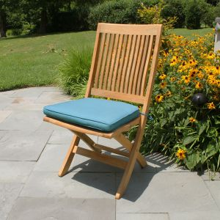 Harborside teak folding chair.