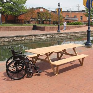 Larchmont accessible picnic table.