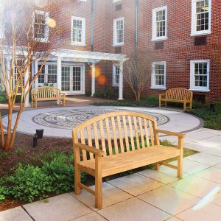 Commercial wooden benches - Meridian 5 ft. teak bench