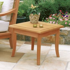 Palisade teak patio side table