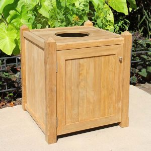 Pyramid 28 in. square receptacle with side door and spa lid.