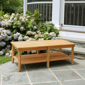 Seneca rectangular teakwood coffee table