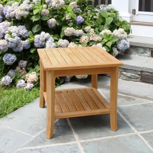 Seneca square side table / teak end table