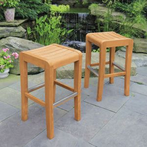 Shoreham backless wooden bar stools