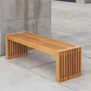 Strata 5 ft. backless wooden bench