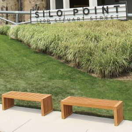Strata 4 ft. backless bench.