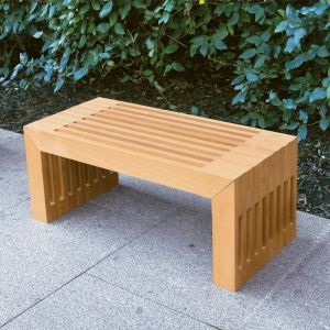 Strata teak modern outdoor side table